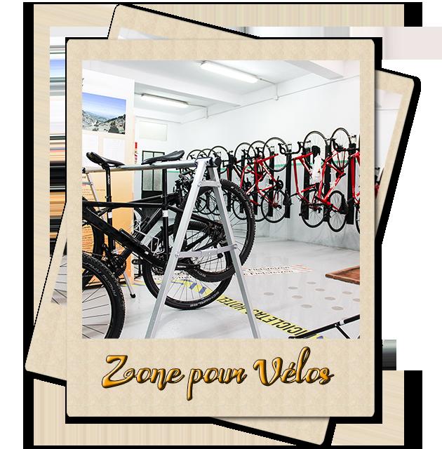 Zone pour Vélos